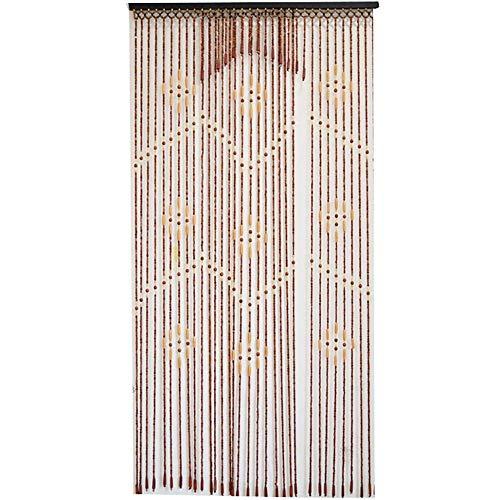 ZXL 32 Strengen Kralen Gordijnen Rustiek Hout voor Deur Kast Room Divider voor Thuis Pastorale Decor Paneel Scherm (Kleur: A, Maat: 90x190cm)