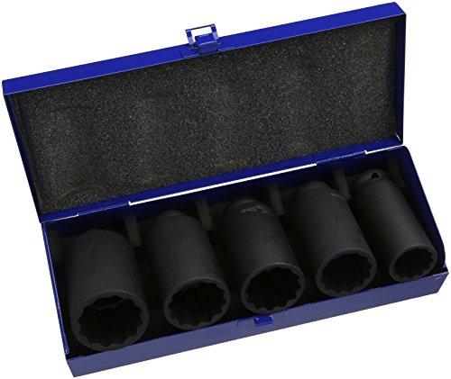 Laser 4883 Jeu de 5 clés à Douille bi-Hex pour écrou d'essieu