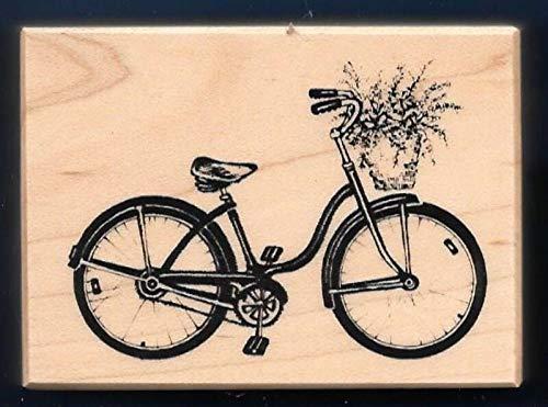Rubber Stamps Psx Bicycle Pedal Bike Flower Basket F-2347 Santa Rosa Ca Stamp 1998 for Teaching Card Making, DIY Crafts, Scrapbooking