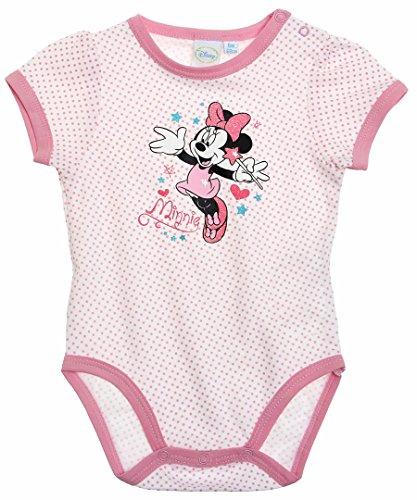 Body bébé fille manches courtes Minnie Pois blanc/rose 12mois