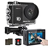 Dragon Touch Vision 3 Pro 4K Action Camera Underwater Waterproof Camera Sports Camera
