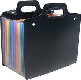 YEBMoo 13 Pockets Expanding File Folders/Portable Accordion File Folders/Expandable A4 Paper and Letter Size/Expanding File Organizer (Portable Folder)