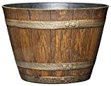Classic Home and Garden 74 Whiskey Barrel, 9', Distressed Oak