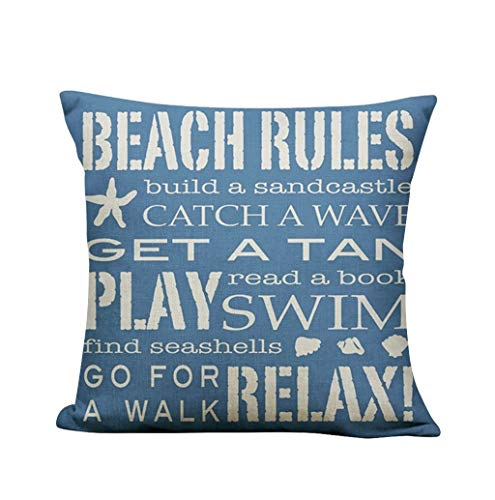 Lonupazz Printed Linen Square Cushion Cover for Sofa, Coffee House, Bedroom 45 x 45 cm, d, 45_x_45_cm