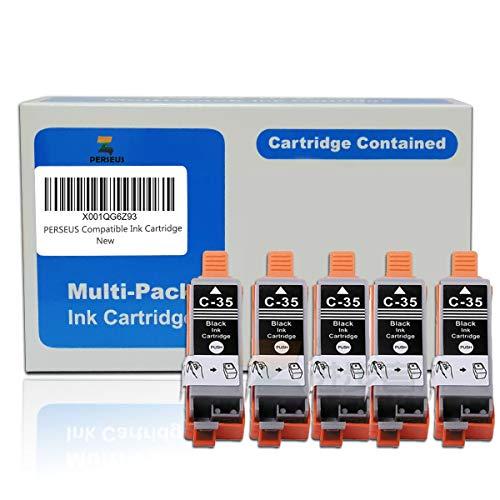 PERSEUS Cartucce d'Inchiostro Sostituzione per Canon PGI-35 PGI35 Nero(Pack of 5) Compatibili con PIXMA iP100 iP110 Series Stampante