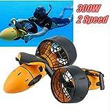 AOPOW Dual Speed Underwater Scooter Sea Diving Toy, Electric Sea Scooter, Waterproof Underwater Propeller...