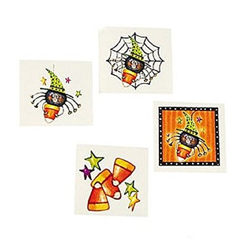 72 CANDY CORN & SPIDER Halloween Tattoos/PARTY FAVORS/Classroom Giveaways/DOCTOR'S Office