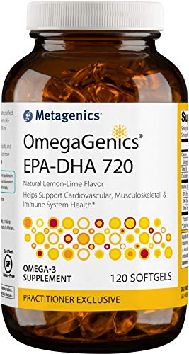 Metagenics - OmegaGenics® EPA-DHA 720 – Omega-3 Fish Oil – Daily Supplement, 120 count