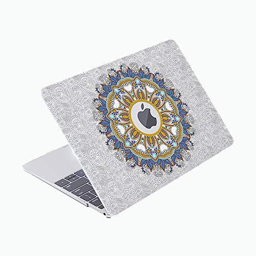 SDH Funda para MacBook Pro de 13 pulgadas 2020 liberación Touch Bar & Modelo de identificación: A2289 / A2251, funda de ordenador portátil y cubierta de teclado Skin 4 en 1 paquete, corona 4