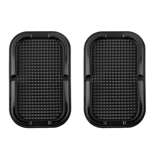 2 x Tapis Plate antidérapant Lilware pour Tableau de Bord de Voiture ou Toute Autre Surface. Porte-équipement Divers - téléphones, clés et Autres Articles de Petite Taille. Noir