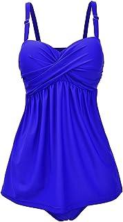 LPATTERN 水着 タンキニ レディース セレパーツ 体型カバー ワンピース かわいい 着やせ 胸パット付き