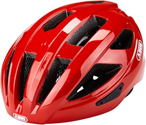 ABUS Unisex-Erwachsene MACATOR Fahrradhelm, blaze red, L