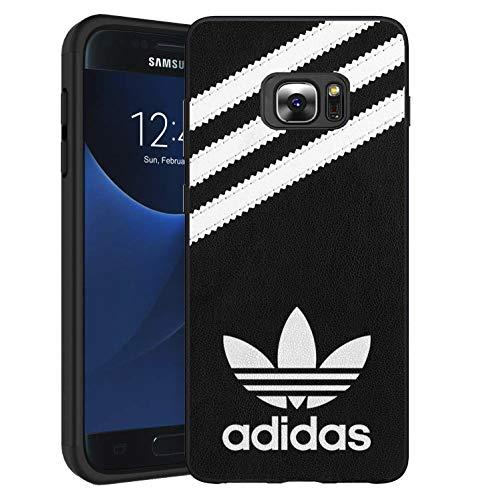 Adi Logo Samsung Galaxy S6 Edge Funda, Carcasa Silicona Protector Anti-Choque Ultra-Delgado Anti-arañazos Case Caso para Teléfono Samsung Galaxy S6 Edge, Negro