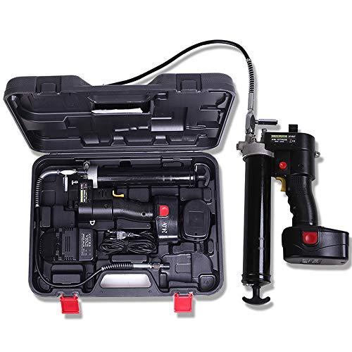 ZQYR ToolKit# LG2400 Pompe À Graisse, Kit De Pistolet À Graisse sans Fil 24V Portable Haute Pression, Chargeur Rapide/Alimenté par Batterie