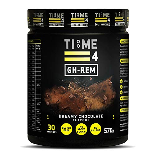 Time 4 GH-REM - Stimulate GH Release + Enhance REM Sleep - 30 Servings - Sleep Aid Suitable for Vegans (Dreamy Chocolate)