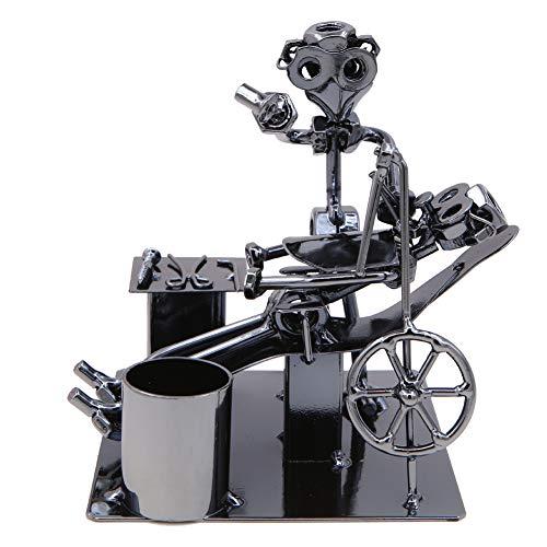 LaMure (8214 - Escultura de Metal ortopédica con Soporte para bolígrafo, Figura de Iron Man para Dentista, Regalo de Oficina, decoración de Escritorio