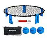 Win SPORTS Valleyball Spike Ball Game Set, Bounce Game Includes Ball (3) &Net & Pump & Carry Case - Played Outdoors, Lawn, Yard, Beach, Tailgate, Park - Game for Kids Adults Family