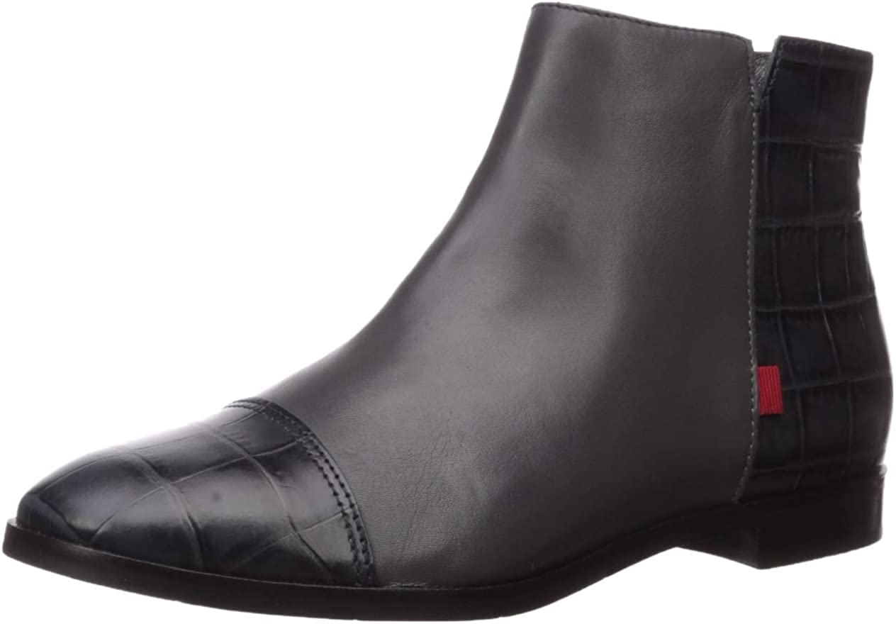 MARC JOSEPH NEW YORK Women's Ranking TOP17 Leather in Ankle Zip Factory outlet Made Brazil Up