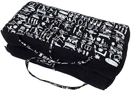 Collumino/® Traditionelles Thai-Kapok-Meditationskissen faltbar Yogaunterlage mit Tragegriff