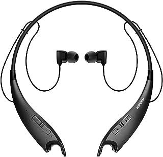 Mpow Jaws Gen-3 Bluetooth Headphones Wireless Neckband Headphones W/13H Playtime & CVC 6.0 Noise Cancelling Mic, Wireless Neckband Headset W/Call Vibrate Alert, Bluetooth Magnetic Earphones, Black