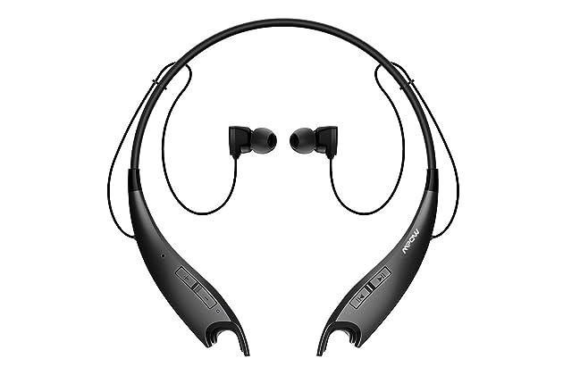 f3bce56b592 Mpow Jaws Gen-3 Bluetooth Headphones Wireless Neckband Headphone w/ 13  Hours Playtime & CVC 6.0 Noise Cancelling Mic, Wireless Neckband Headset  w/Call ...