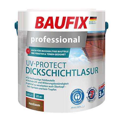 BAUFIX Professional UV-Protect Dickschichtlasur Nussbaum