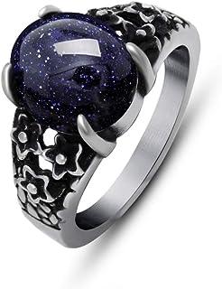 خاتم شخصية التيتانيوم خاتم المحكمة الأحمر دومينيرينج الرمان مجوهرات الرجال والنساء الصلب