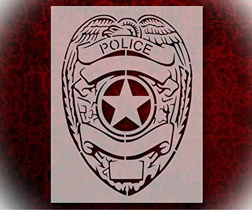 Rubstamper Stencil Police Badge Police Department 8.5