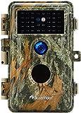 Macchine Fotocamera de Caccia 24MP 1296P Cacciatori di Videocamere Cacciatori di Animali Selvatici, No Glow 36 LED IR Visione Notturna 70 Piedi, IP66 Impermeabile, 2,4' LCD