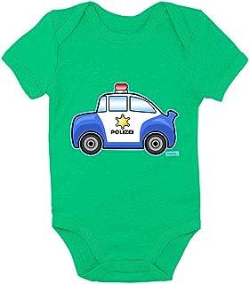HARIZ Body de manga corta para bebé, diseño de excavadora de coche, incluye tarjeta de regalo