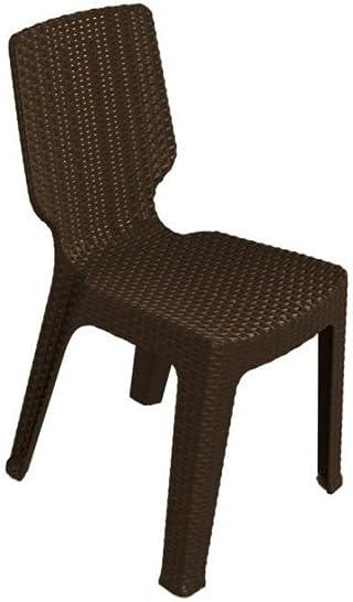 Keter - Silla de jardín exterior T-chair, Color marrón