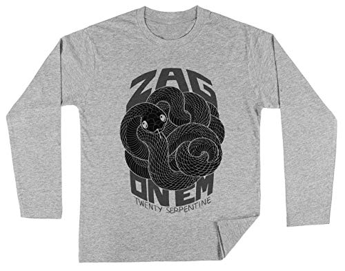 Zag On Em Mono Unisex Kinder Jongens Meisjes Lange Mouwen T-shirt Grijs Unisex Kids Boys Girls's Long Sleeves T-Shirt Grey