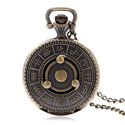 SGSG Reloj de Bolsillo con Colgante de Cuarzo de Bronce con Cadena de Collar, Hombres, Mujeres
