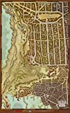 Dungeons & Dragons Waterdeep Dragon Heist Vinyl Map Set