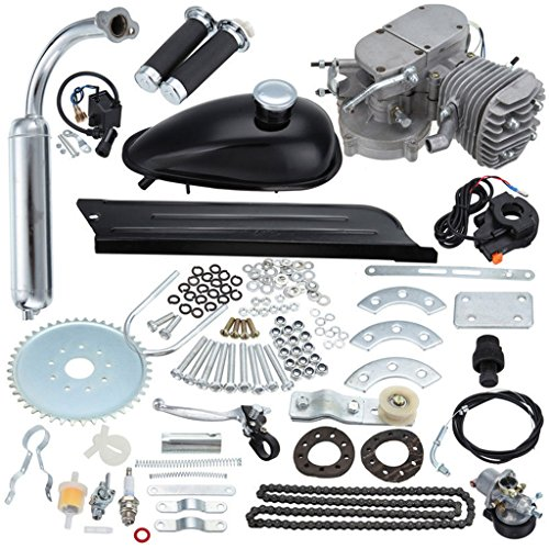 JDMSPEED New 80cc Bike 2 Stroke Gas Engine Motor Kit Replacement for DIY Motorized Bicycle Black