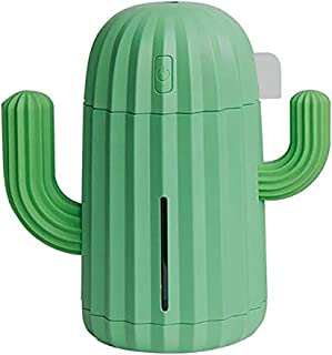 QWQ69 Mini Humidifier Single Room Humidifiers with Night Light Portable Cactus Air humidifier for Offic Bedroom,Green