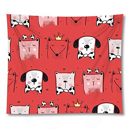 Tapiz de animales de dibujos animados para colgar en la pared, manta de playa de arena, manta, tienda de campaña, colchón de viaje, colchoneta para dormir 180x180cm