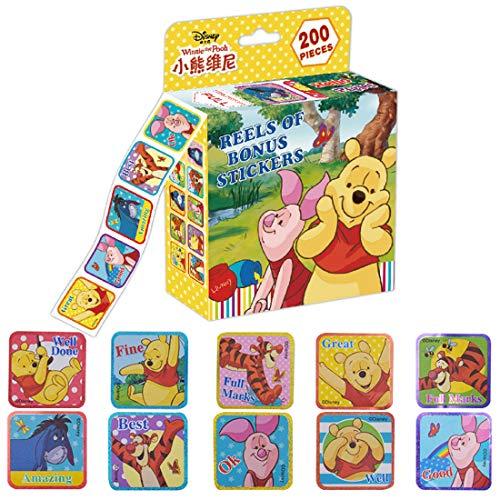 200Pcs Adesivi Winnie the Pooh - ZSWQ Cartoon Adesivi, per Bottiglie d'Acqua, Moto, Quaderni, Bagagli, Bicicletta, Skateboard, Ottimo Regalo per Bambini, Ragazzi, Adolescenti(Stile Casuale)