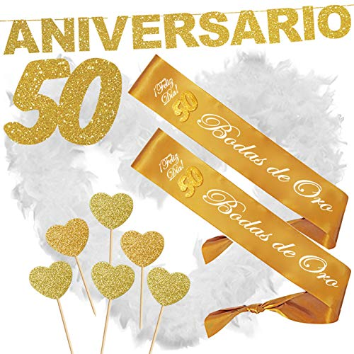 Inedit Festa 50 Aniversario Bodas Oro Bandas Honoríficas 50 Bodas de Oro y Guirnalda 50 Aniversario Bandas Honoríficas 50 Bodas de Oro y Guirnalda 50 Aniversario