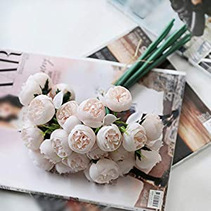 27 Heads Tea Rose Artificial Silk Flower Bouquet Home Hotel Table Decoration Wedding Bride Holding Floral,B