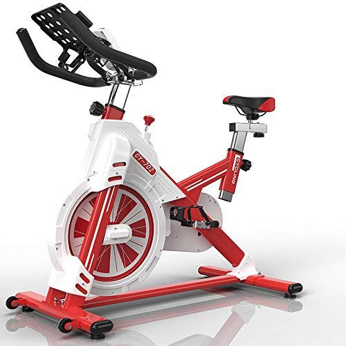 SYXZ Bicicleta estática - aplicación de Video Eventos y multijugador, Compatible con Correa de Pulso: Entrenador de Bicicleta de Ejercicios con transmisión de Correa silenciosa,Rojo