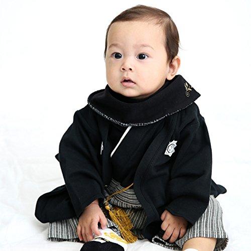 ベビーキッズ子供服袴風カバーオールロンパース男の子黒60cm10667506BK60