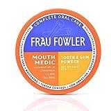 Frau Fowler MOUTH MEDIC Tooth Powder, Botanically Clean, Teeth-Whitening, Remineralizing, Sensitive-Teeth Treatment, (2 oz / 6+ Week Supply)