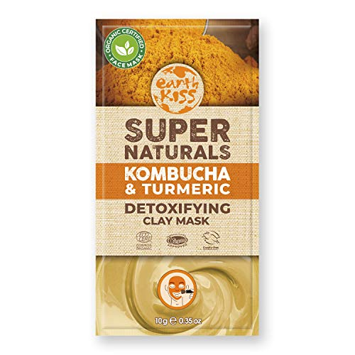 Earth Kiss Super Naturals Detoxifying Kombucha and Turmeric Clay Mask (10g) to Detoxify and Brighten Complexion
