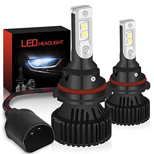 KATUR 9004 HB1 Bombillas para Luces LED Super Brillante CREE Chips 16000LM Kit de conversión de Luces para Luces LED Todo en uno a Prueba de Agua 60W 6500K Xenón Blanco - 2 años de garantía