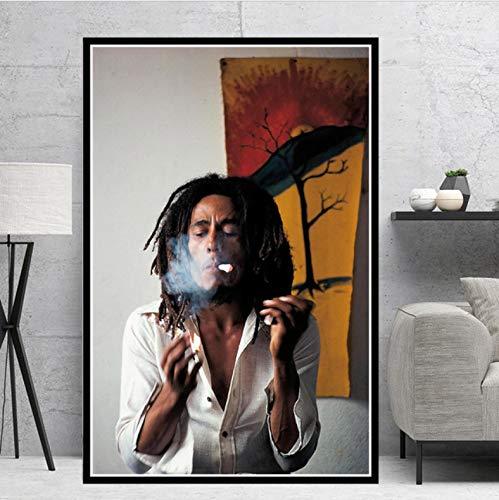tgbhujk Poster und Drucke Bob Marley Sänger Star RIP Poster Wandkunst Bild Leinwand Malerei für Room Home Decor 50 * 75 Ohne Rahmen