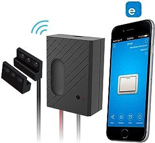 WiFi Smart Home Garage Door Opener Wireless Remote Controller with Smart Life APP, Compatible with Alexa, Google Home, Nest and IFTTT (Black)