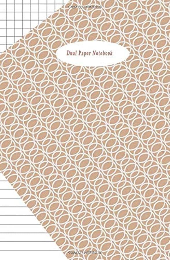 対応百年愛情深いDual Paper Notebook: Half College Ruled-Half Graph 5x5 Paper Styles on One Sheet To Get Creative: Coordinate, Grid, Squared, Math Paper, Plot Designs, Craft Projects, Write Accompanying Notes, Draw Sketches, Diary Journal Organizer