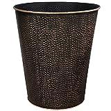 Blue Donuts Wastebasket for Bedroom, Bathroom, Trash Can 6 Liters, Bronze, Stainless Steel