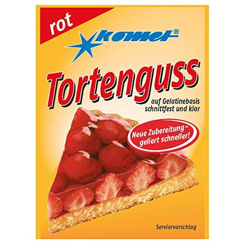42x Tortenguß rot Komet - nostalgische DDR Kultprodukte - Ossi Artikel